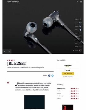JBL by Harman E25 BT Black