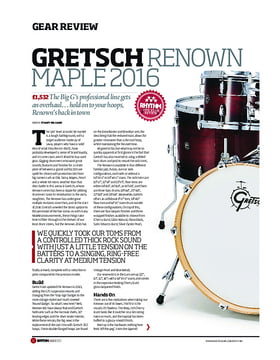 Gretsch Renown Maple Drum Kit