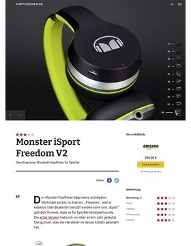 Monster iSport Freedom V2 Black/Green