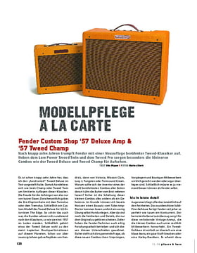 Fender Custom Shop '57 Deluxe Amp & '57 Tweed Champ