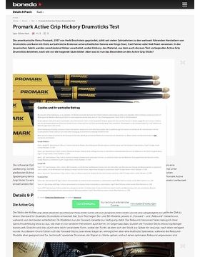Promark Active Grip Hickory Drumsticks