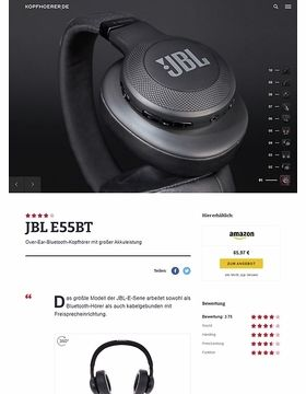 JBL by Harman E55 BT Black