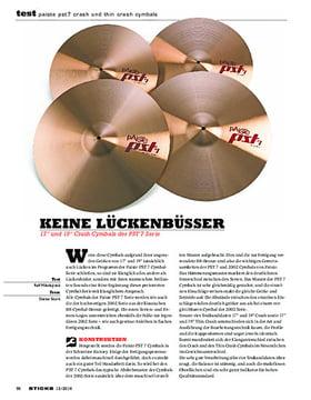 Paiste PST7 Crash Und Thin Crash Cymbals