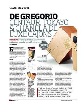 De Gregorio Centaur, Tokayo and Chanela Deluxe Cajons