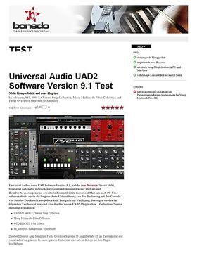 Universal Audio UAD Software Version 9.1 Test