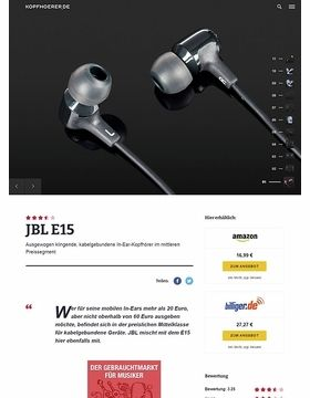 JBL by Harman E15 Black