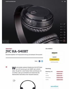 JVC HA-S40BT Black