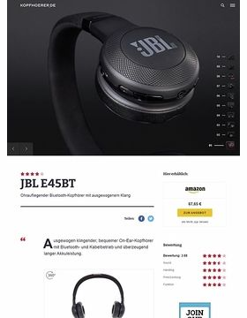 JBL by Harman E45 BT Black