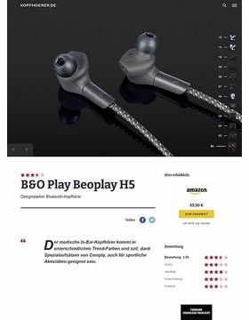 B&O Play H5 Black
