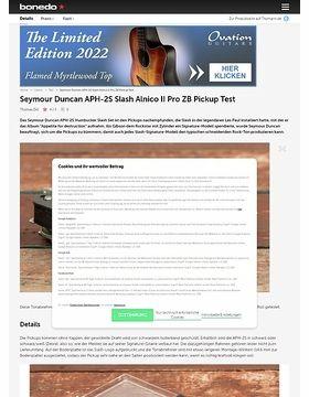 Seymour Duncan APH-2S Slash Alnico II Pro ZB Pickup