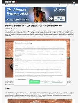 Seymour Duncan Phat Cat Great P-90 Set Nickel Pickup