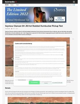 Seymour Duncan SH-JB Hot Rodded Humbucker Pickup
