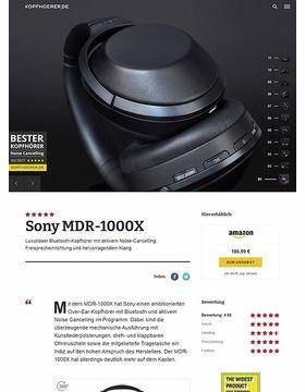 Sony MDR-1000X Black
