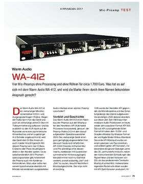 Warm Audio WA-412