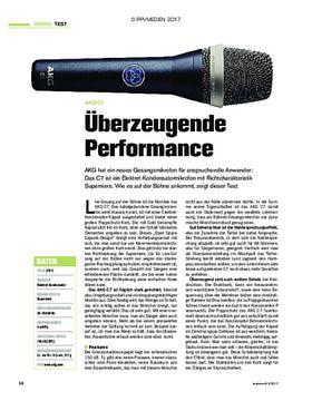 AKG C7: Überzeugende Performance