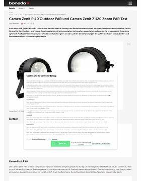 Cameo Zenit P 40 Outdoor PAR und Cameo Zenit Z 120 Zoom PAR