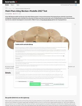 Meinl Pure Alloy Becken-Modelle 2017