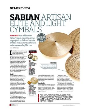Sabian Artisan Elite and Light Cymbals