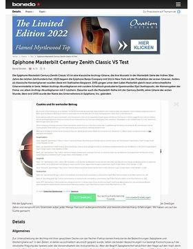 Epiphone Masterbilt Century Zenith Classic VS