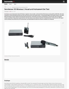 Sennheiser XS Wireless 1 Vocal und Instrument Set