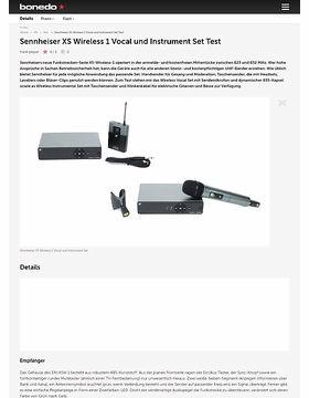 Sennheiser XS Wireless 1 Vocal und Instrument Set