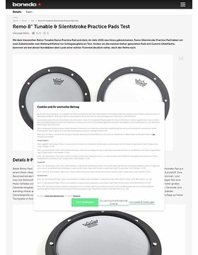 "Remo 8"" Tunable & Silentstroke Practice Pads"