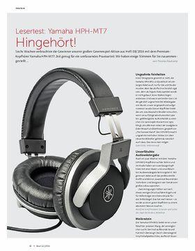 Lesertest: Yamaha HPH-MT7 Hingehört!