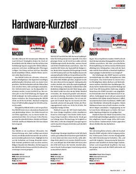 Miktek MK300, AKG K92, Rupert Neve Designs RNHP