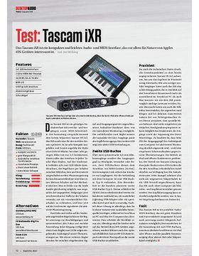 Tascam iXR, sE Electronics X1 A, Korg plugKEY