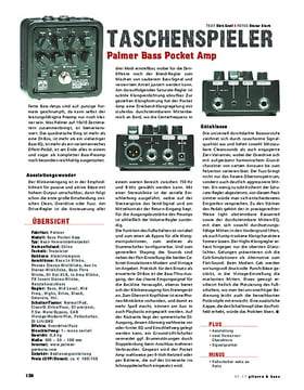 Palmer Bass Pocket Amp