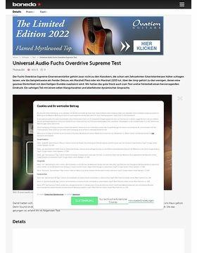 Universal Audio Fuchs Overdrive Supreme