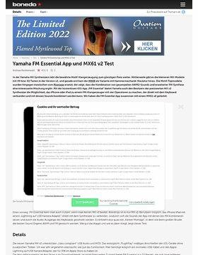 Yamaha FM Essential App und MX61 v2