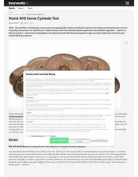 Paiste 900 Series Cymbals