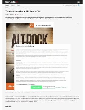 Toontrack Alt-Rock EZX Drums Test