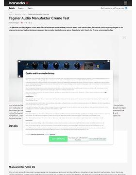 Tegeler Audio Manufaktur Crème