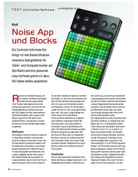 Roli Noise App und Blocks