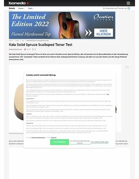 Kala Solid Spruce Scalloped Tenor