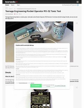 Teenage Engineering Pocket Operator PO-32 Tonic