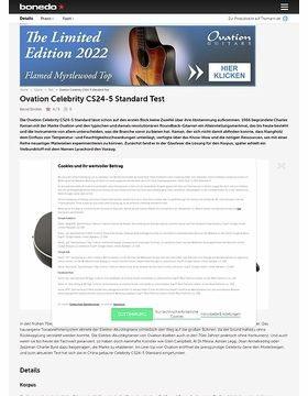 Ovation Celebrity CS24-5 Standard