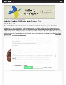 Kala California U-BASS Solid Body 5-String
