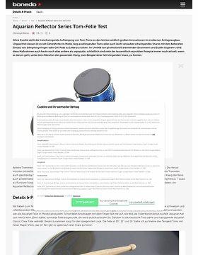 Aquarian Reflector Series Tom-Felle