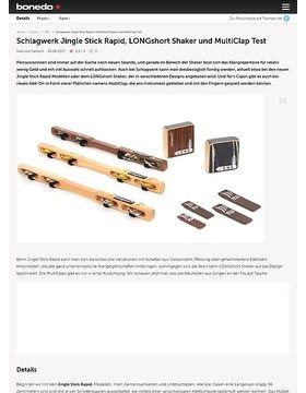 Schlagwerk Jingle Stick Rapid, LONGshort Shaker und MultiClap Test
