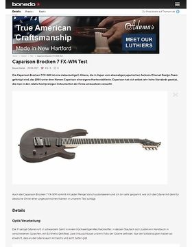 Caparison Brocken 7 FX-WM
