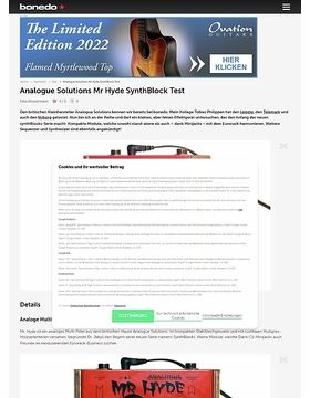 Analogue Solutions Mr Hyde SynthBlock
