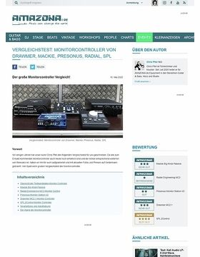 Vergleichstest Monitor Controller: Mackie Big Knob Passive, Radial Engineering MC3, Presonus Monitor Station V2, Drawmer MC2.1, SPL 2Control