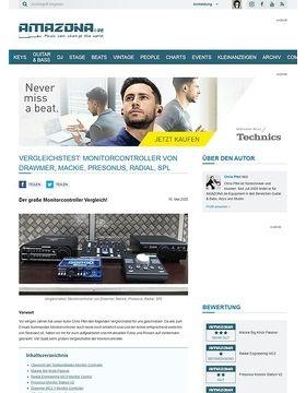 Vergleichstest Monitor Controller: Mackie Big Knob Passive, Radial Engineering MC3, Presonus Monitor Station V2, Drawmer MC2.1, SPL 2Control