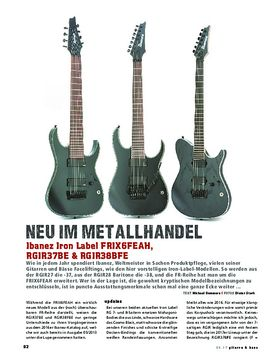 Ibanez Iron Label FRIX6FEAH, RGIR37BE & RGIR38BFE