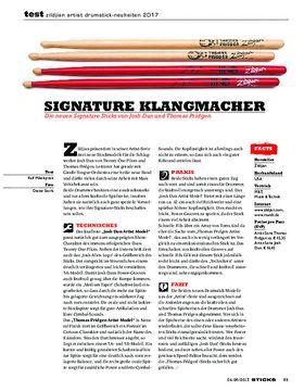 Zildjian Artist Drumstick-Neuheiten 2017