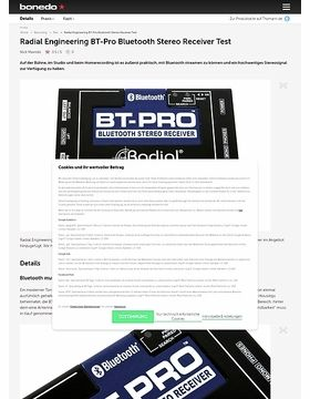 Radial Engineering BT-Pro Bluetooth Stereo Receiver