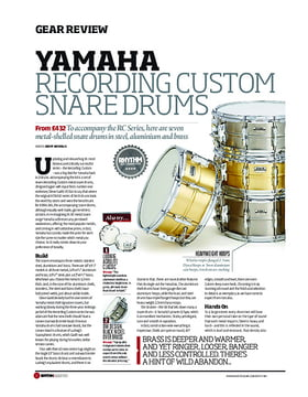 Yamaha Recording Custom Snare Drums